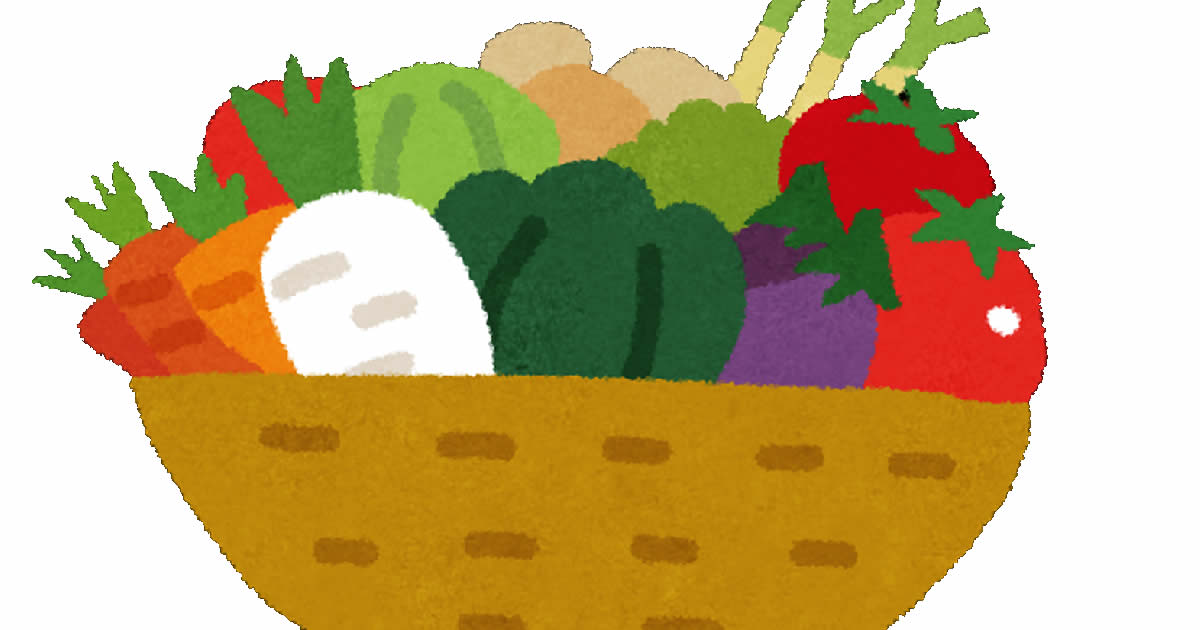 緑黄色野菜・淡色野菜(トマト・人参・ピーマン・大根・キャベツ・玉ねぎ・長ネギ)